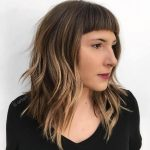 12 Modern Ways To Style A Long Bob With Bangs Long Bob With Choppy Lob With Bangs
