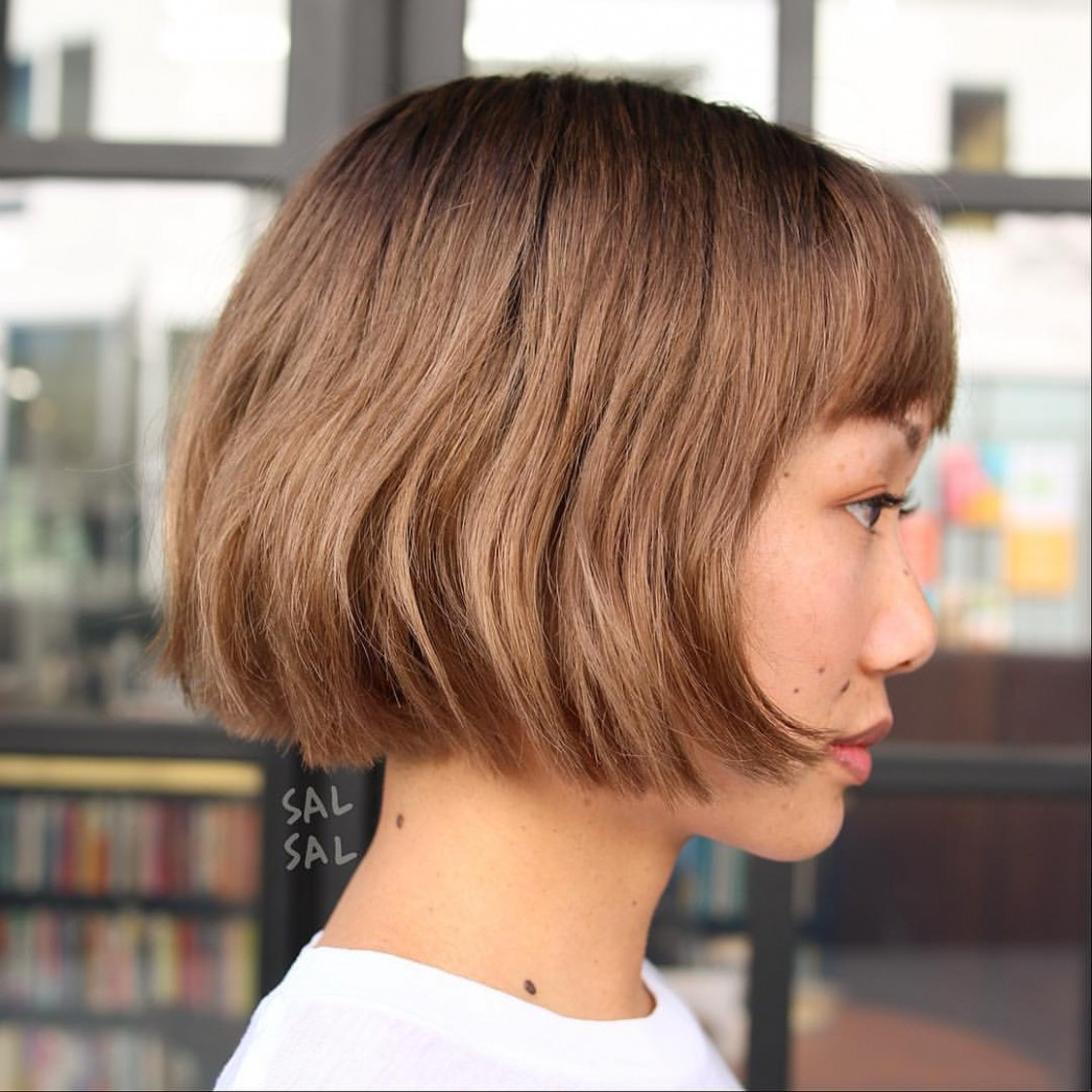 12 Most Flattering Bob Hairstyles For Round Faces 12 Blunt Bob Round Face