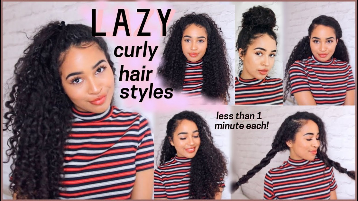 12 OF THE BEST CURLY HAIRSTYLES FOR PEOPLE WHO ARE AS LAZY AS ME! Hairstyles For Curly Hair For School