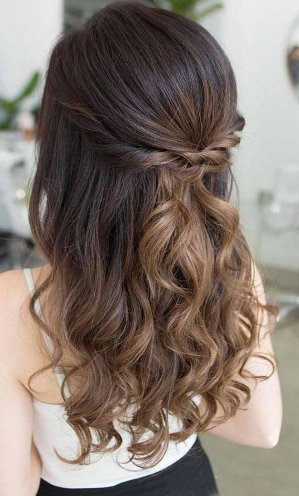 12 Prettiest Half Up Half Down Wedding Hairstyles For Women In 12 Prom Hairstyles For Medium Hair Down