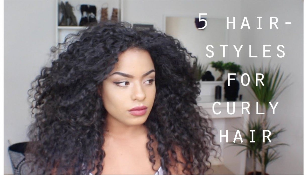 12 QUICK EASY HAIRSTYLES FOR CURLY HAIR Easy Hairstyles For Long Curly Hair
