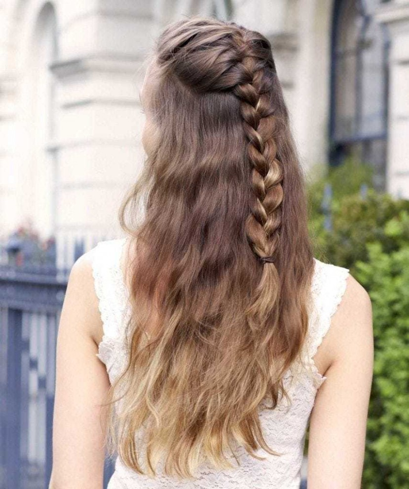 12 Seriously Easy Braids For Long Hair (12 Update) Easy Braided Hairstyles For Long Hair