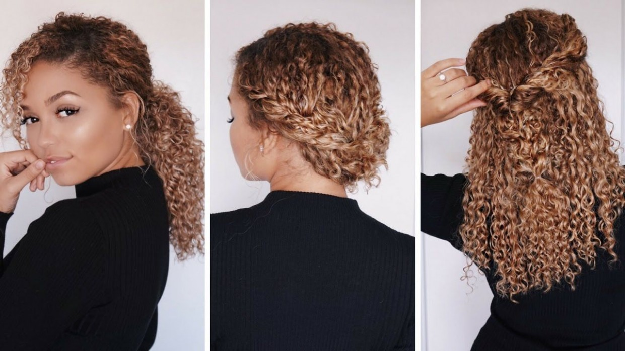 12 Super Easy Hairstyles For 12b/12c Curly Hair Bella Kurls 3B Curly Hairstyles