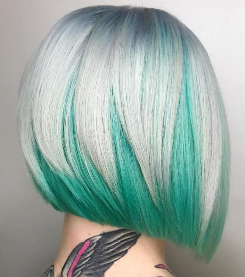 12 Two Tone Hair Styles Hair Color Techniques, Hair Styles Bob Haircuts With Two Colors