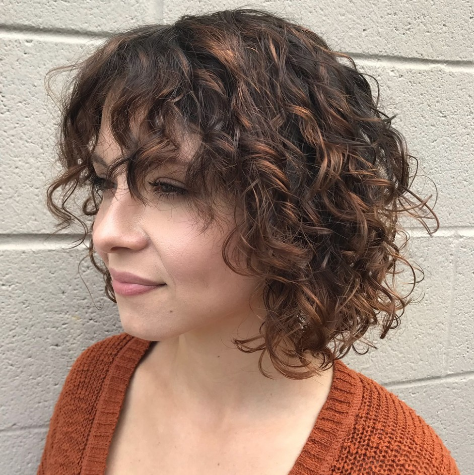 8 Curly Bob Ideas – Top 8's Hairstyles For Every Type Of Curl A Line Bob Curly Hair