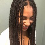 8 Dope Box Braids Hairstyles To Try Allure One Side Braid With Curls Black Hair