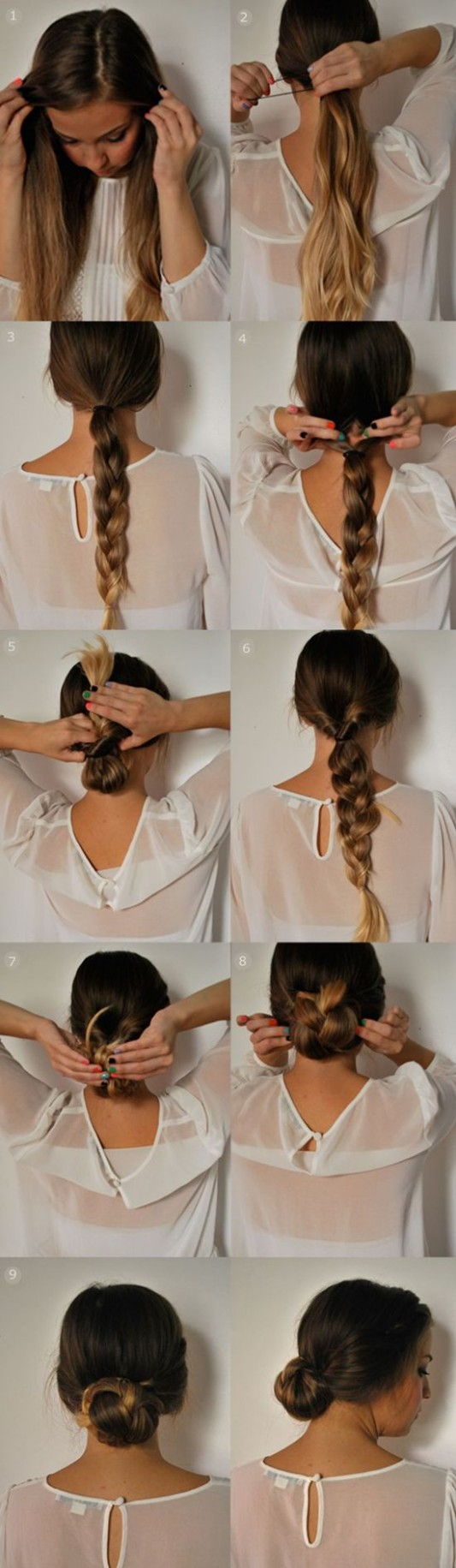 8 Easy 8 Minutes Hairstyles for women - Hairstyles Weekly