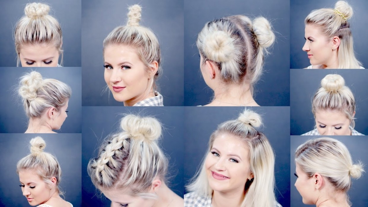 8 EASY Different Bun Hairstyles For Short Hair Milabu Everyday Hairstyles For Short Hair