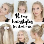 8 Easy Hairstyles For SHORT Hair Lazy Hairstyles For Short Hair