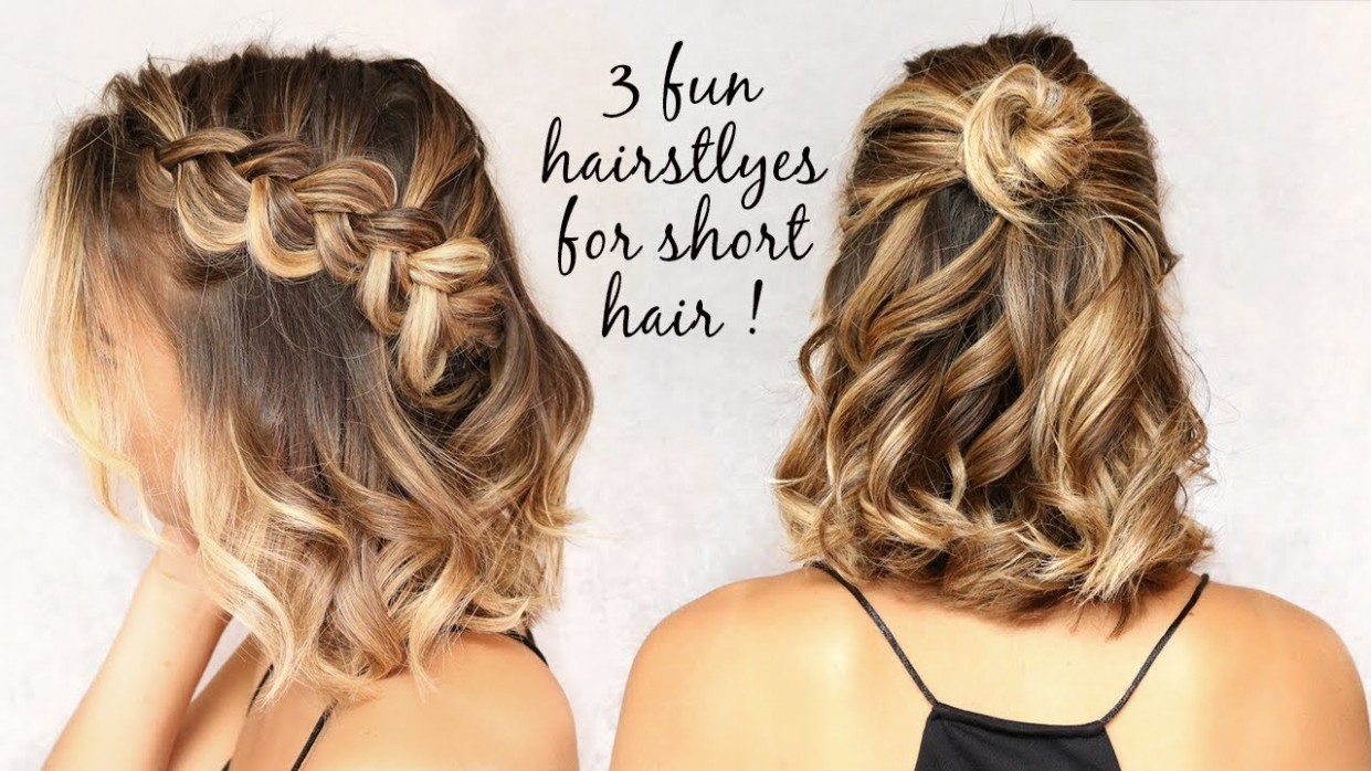 8 Easy Hairstyles For Short Hair! Lazy Hairstyles For Short Hair