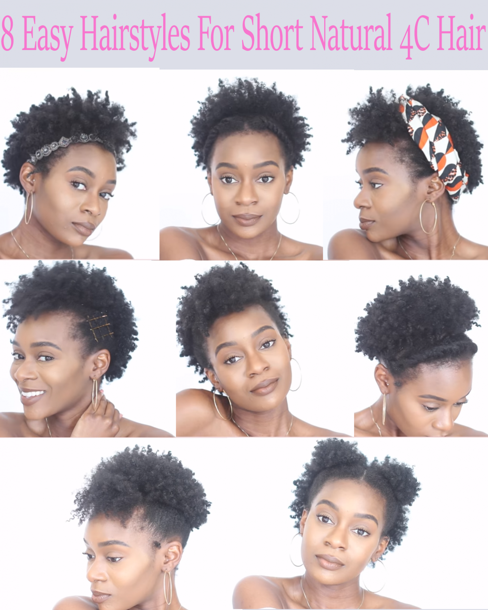 8 Easy Protective Hairstyles For Short Natural 8C Hair That Will Protective Hairstyles For Short Hair