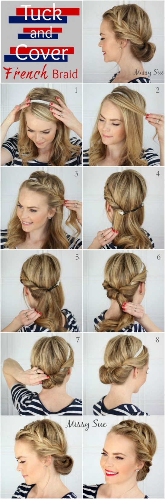 8 Easy Step By Step Hair Tutorials For Long, Medium,Short Hair Braids For Short Hair Step By Step