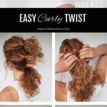 8 Incredibly Stunning DIY Updos For Curly Hair Simple Hairstyle For Curly Hair At Home