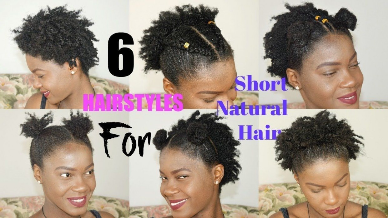 8 QUICK & EASY Everyday Hairstyles For Short NATURAL HAIR TWA Everyday Hairstyles For Short Hair