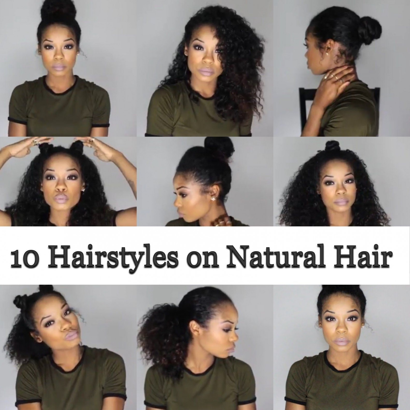 8 Quick And Easy Hairstyles On Natural Hair 8B/8C Natural Hairstyles For 3B Hair