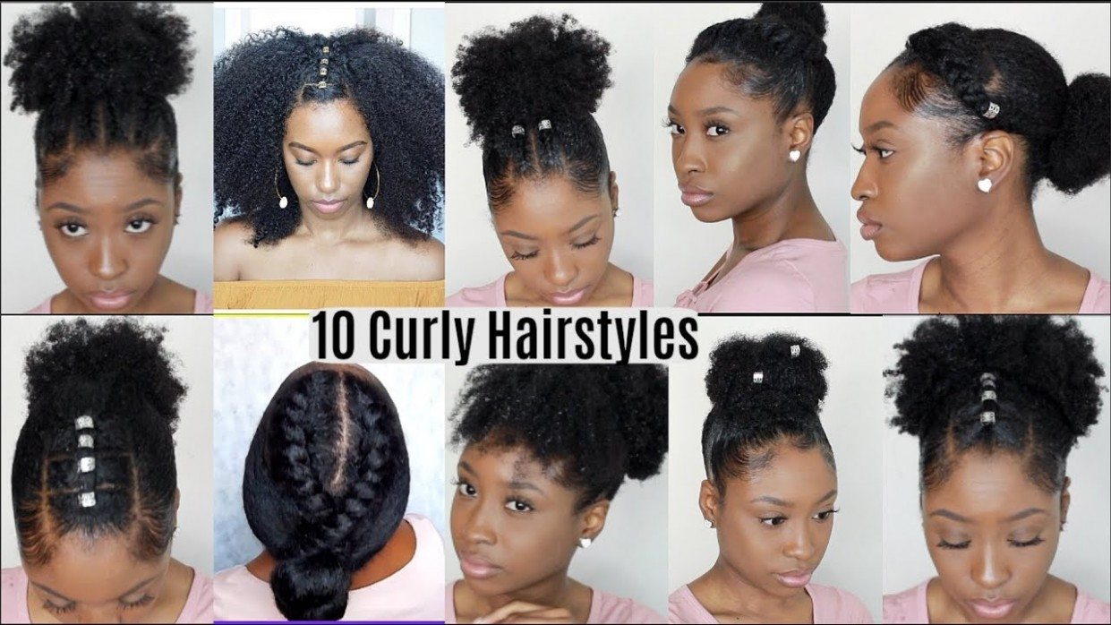 8 Quick Easy Hairstyles For Natural Curly Hair Instagram Inspired Hairstyles Cute Hairstyles For Thick Curly Hair