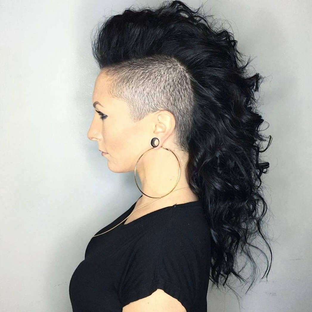 8 Stunning Curly Mohawk Hairstyles — Cuteness And Boldness Check Long Hair Mohawk