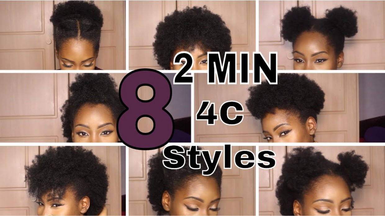 8 SUPER QUICK HAIRSTYLES ON SHORT 8C HAIR Hairstyles For 4C Short Hair