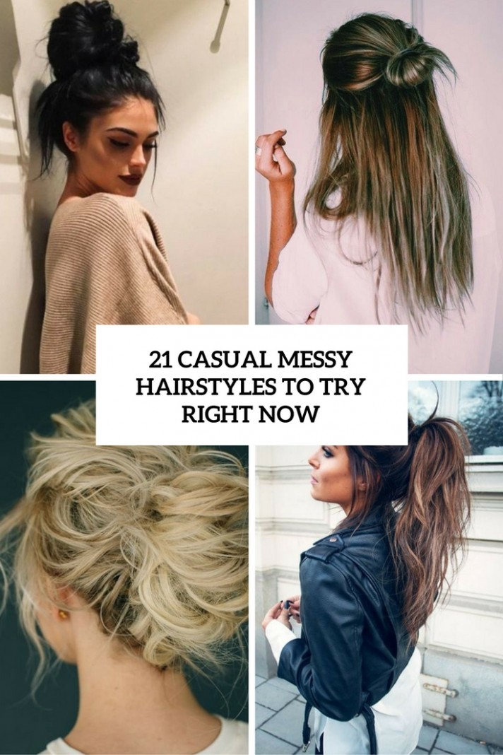 9 Casual Messy Hairstyles To Try Right Now Styleoholic Messy Hairstyles For Long Hair