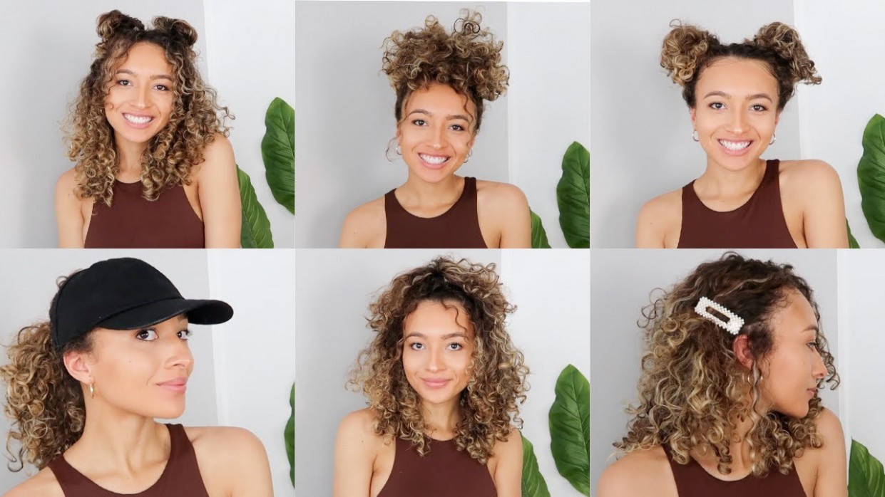 9 EASY CURLY HAIRSTYLES // 9A Hairstyles For 3A Hair