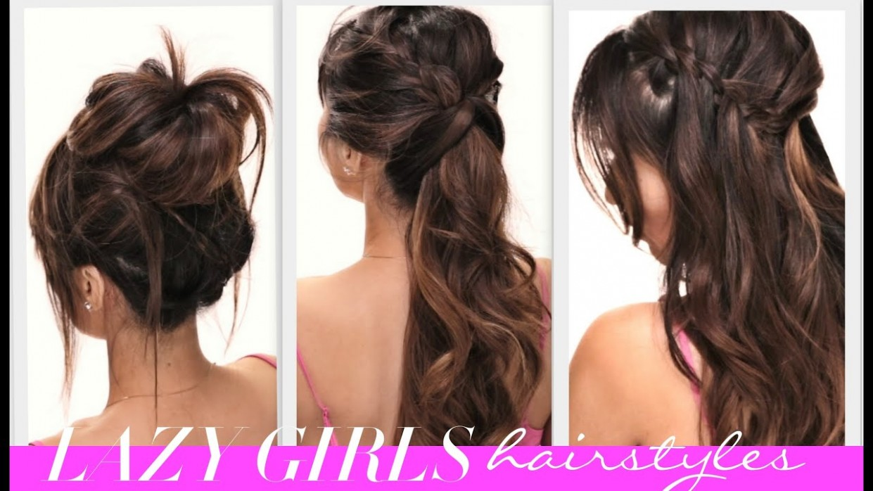 ★9 EASY Lazy Girls BACK TO SCHOOL HAIRSTYLES CUTE HAIRSTYLE BRAIDS MESSY BUN Messy Hairstyles For Long Hair