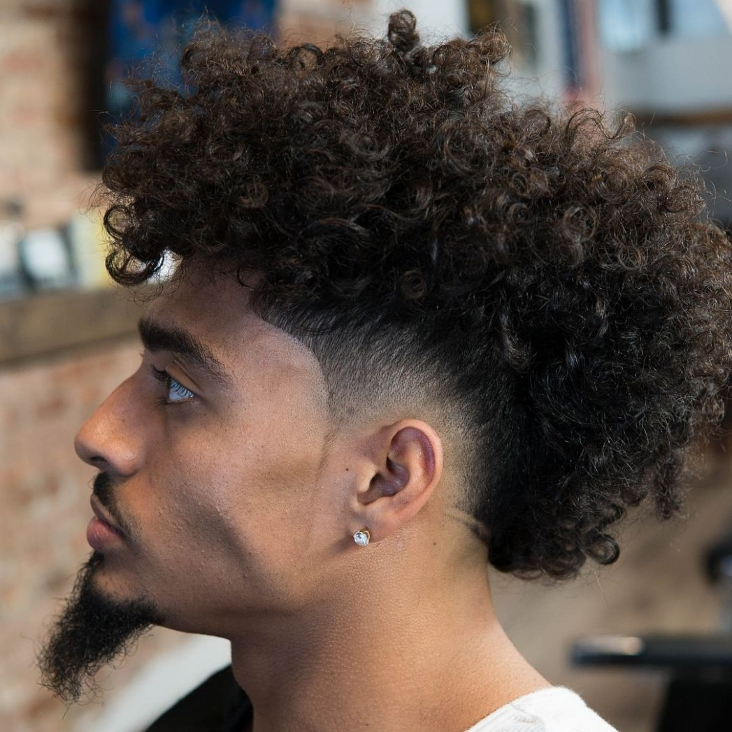 9 Fade Haircuts For Men > New 9 Update > Pick Your Next Curly Hair Mohawk Male