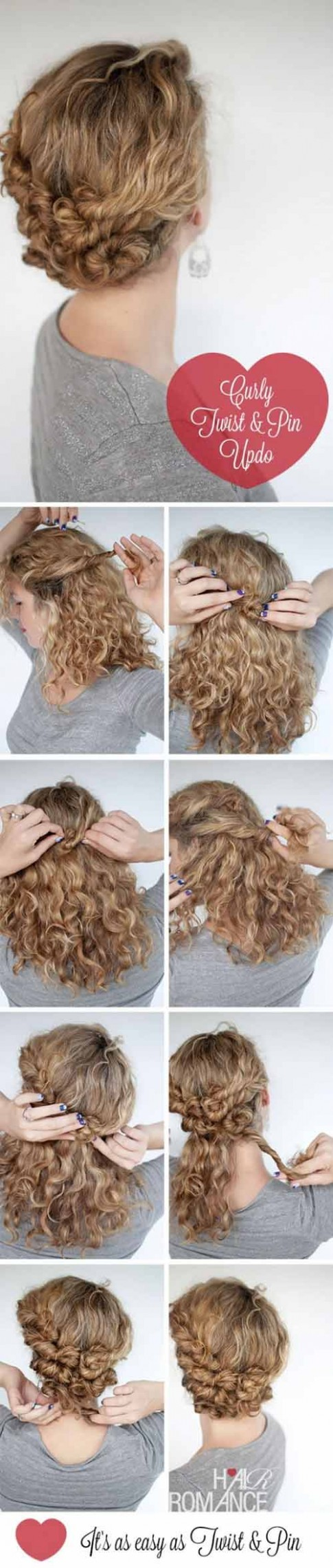 9 Incredibly Stunning DIY Updos For Curly Hair Easy Curly Hair Updos
