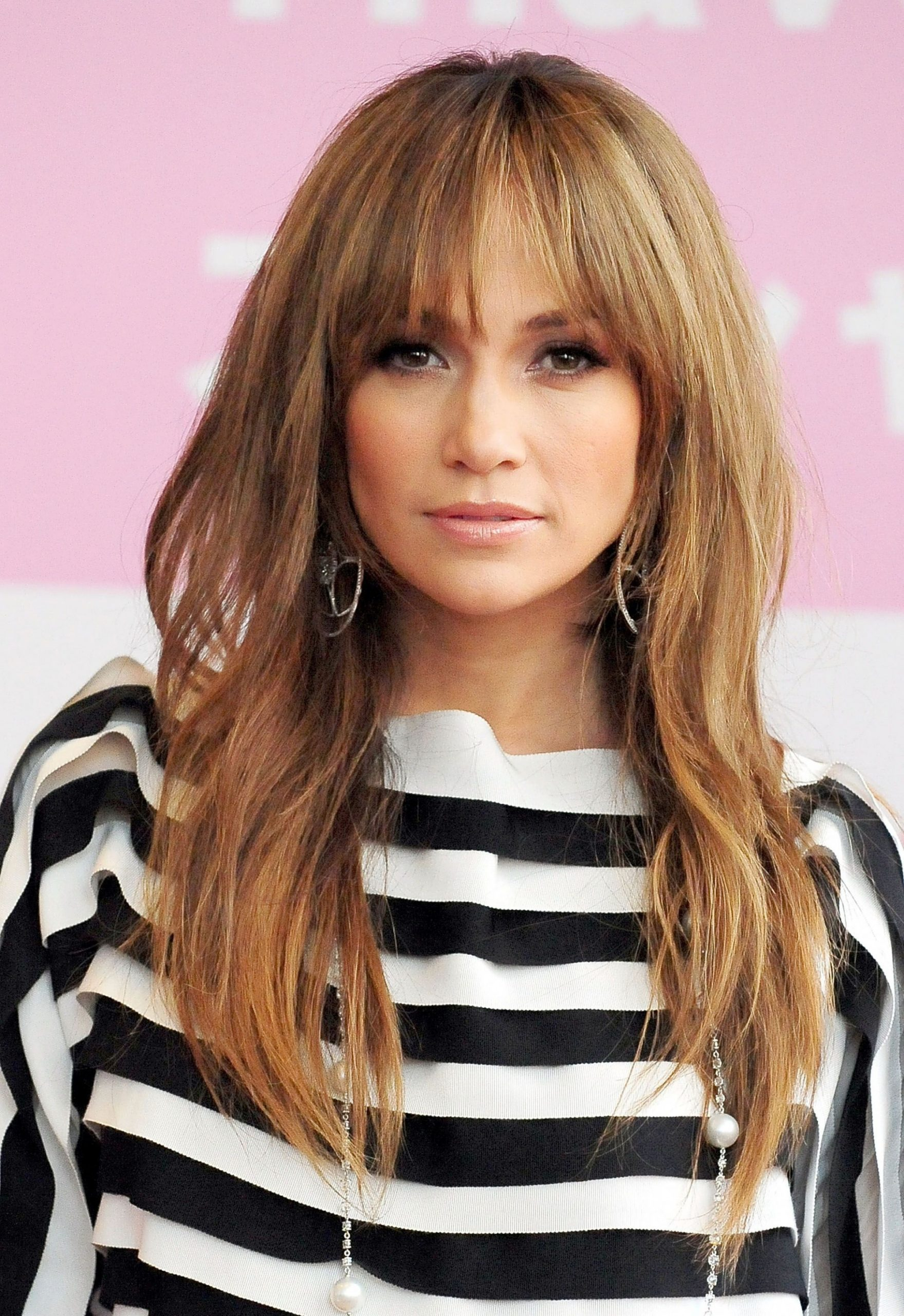 9 Long Hairstyles With Bangs Best Celebrity Long Hair With Long Hair And Bangs