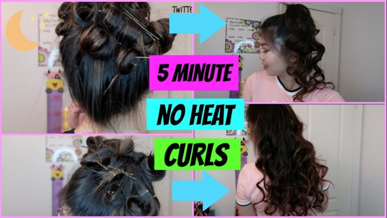 9 Minute No Heat Curls With Only Bobby Pins?! Pin Curls With Bobby Pins