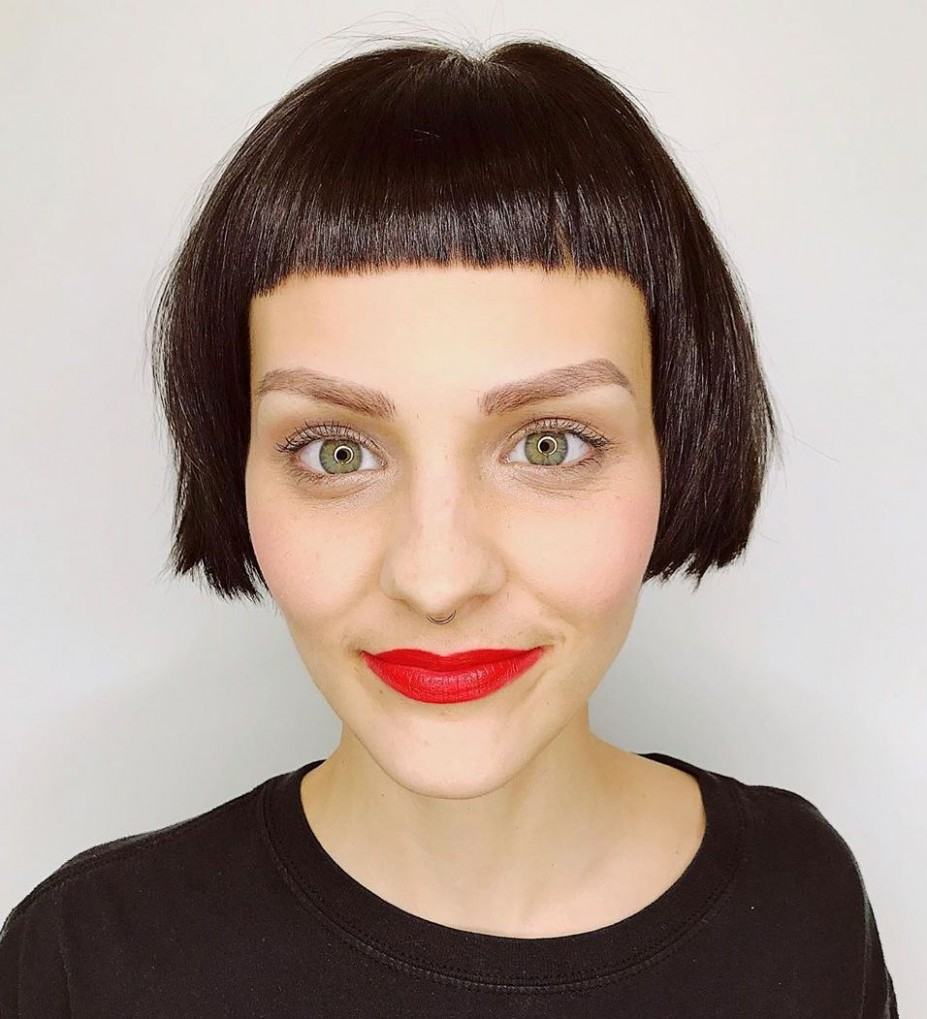 9 NEW Short Hair With Bangs Ideas And Hairstyles For 9 Hair Short Blunt Bangs