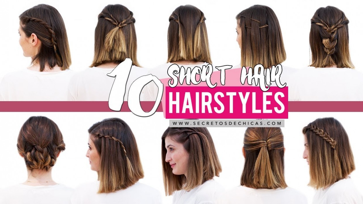 9 Quick And Easy Hairstyles For Short Hair Patry Jordan Cute Easy Short Hairstyles