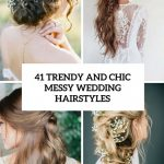 9 Trendy And Chic Messy Wedding Hairstyles Weddingomania Messy Hairstyles For Long Hair