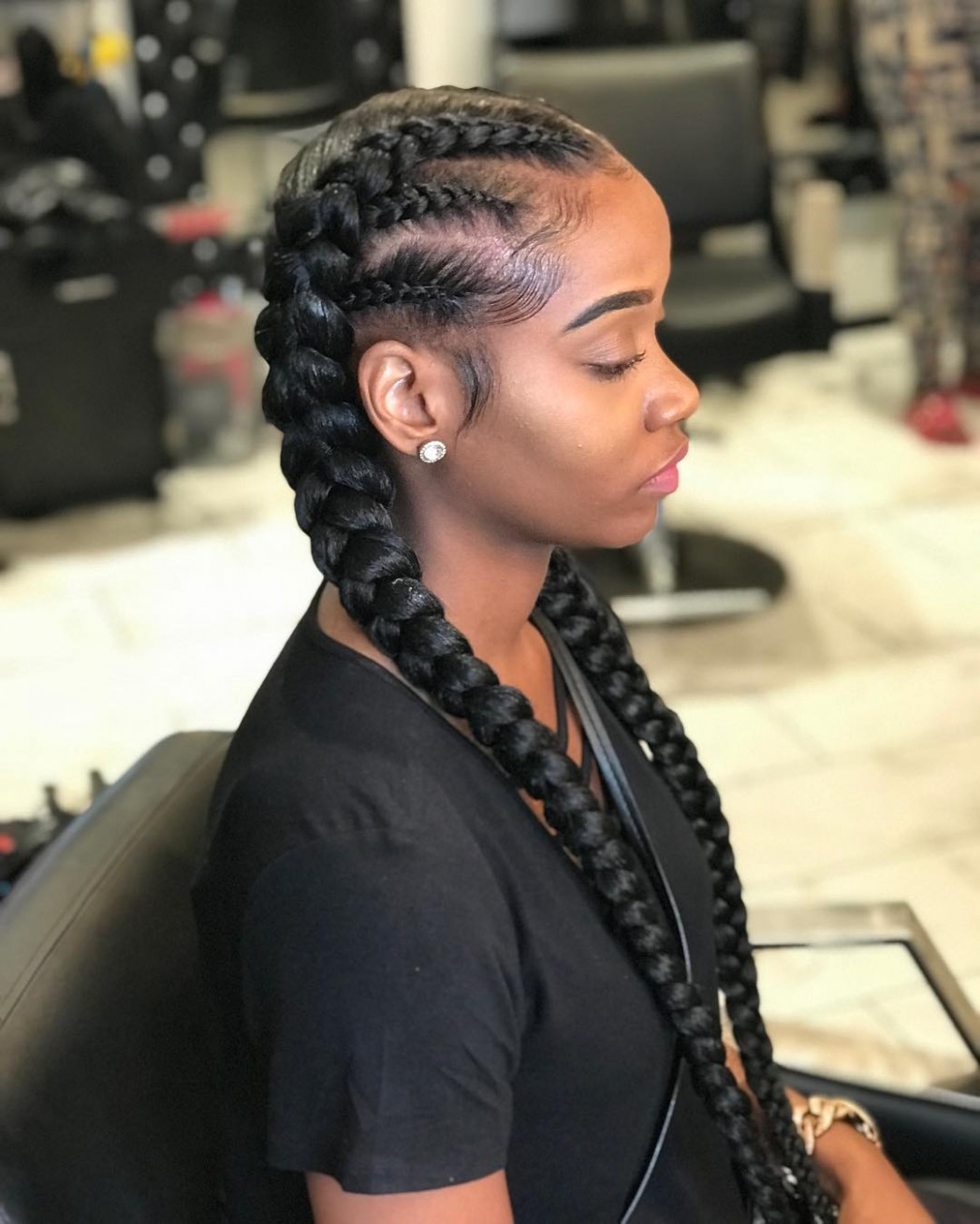 9 Two Braids And You've Got It Made Two Long Braids
