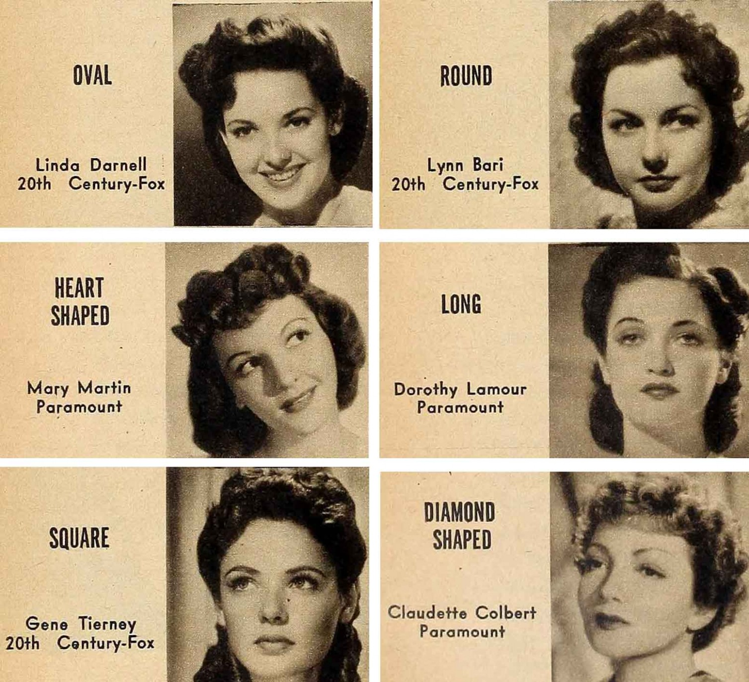 9s Hair And Make Up Secrets For Your Face Type Vintage Makeup 1940S Short Hair