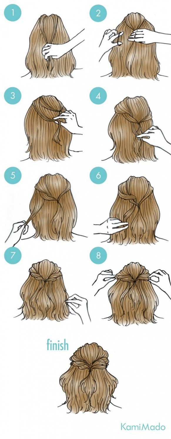 A Go To Hairstyle For Sure Gaya Rambut Simpel, Ide Gaya Rambut Easy Hairstyles For Short Hair Step By Step