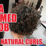 A PERMED BOB LIKE NATURAL CURLS BEFORE AND AFTER BY JOERG MENGEL FRISEURE Permed Bob