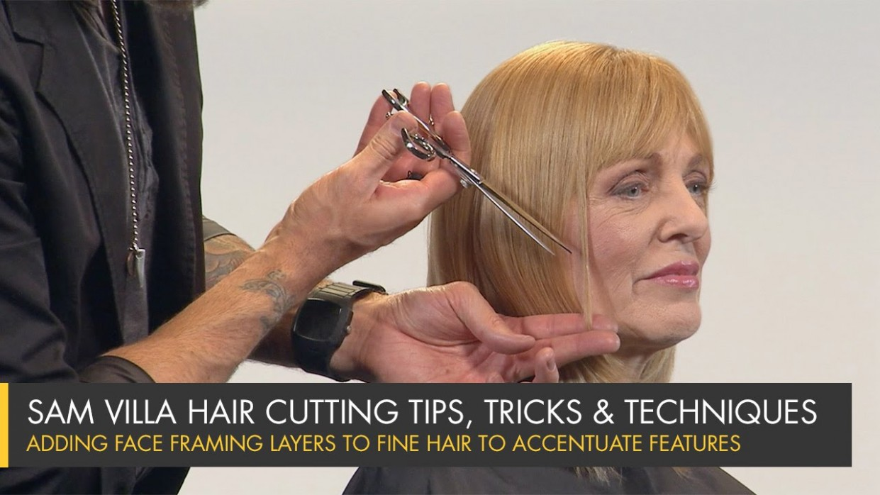 Adding Face Framing Layers To Fine Hair To Accentuate Features Face Framing Layers Short Hair