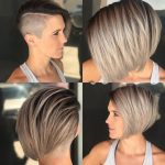 All Sizes Edgy Side Swept Blonde Undercut Bob Flickr Photo Shaved Bob Hairstyles