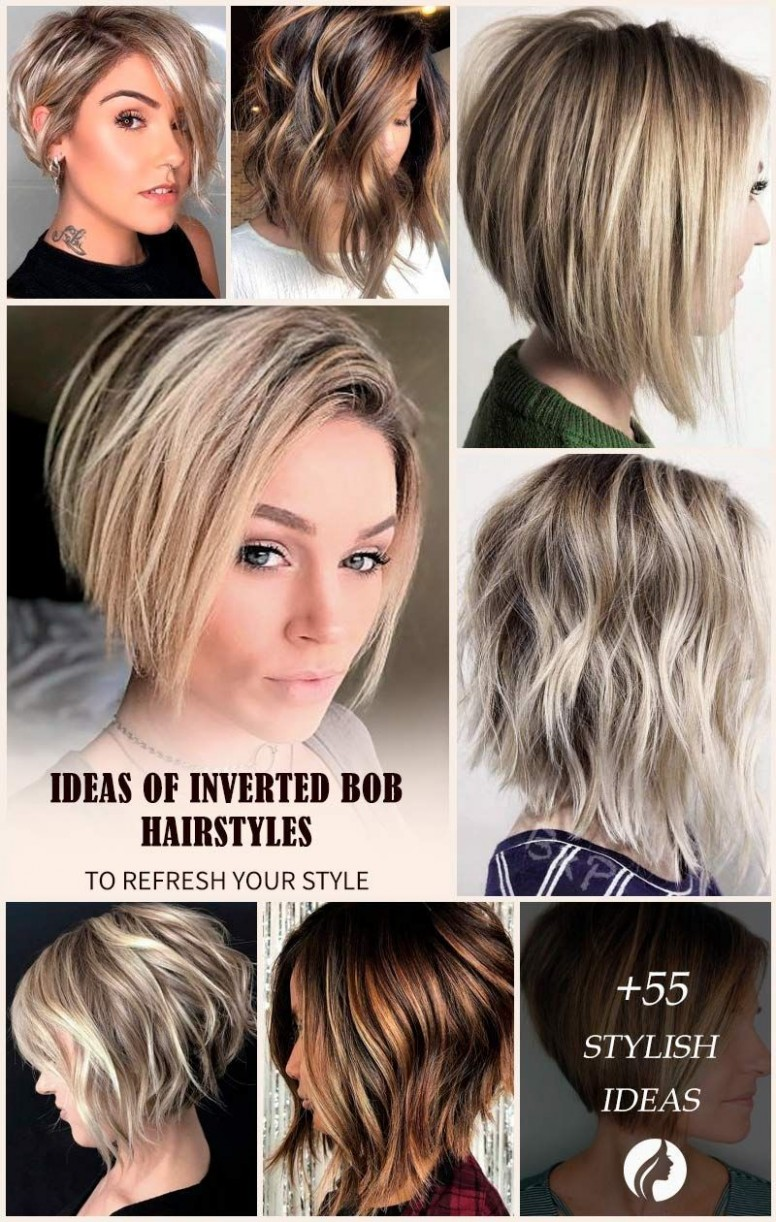 All The Inverted Bob Hairstyles: Stacked, Choppy, Short, Curly Inverted Bob With Side Bangs