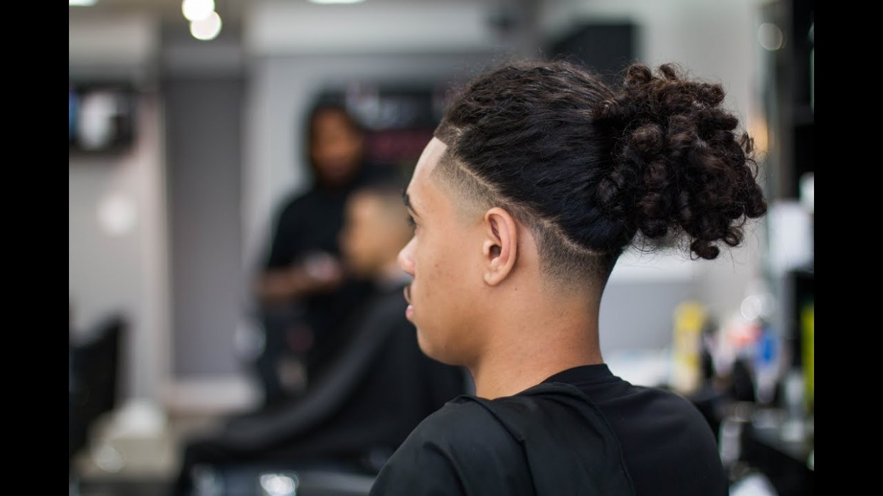 BALD TAPER W/ LONG HAIR OR BRAIDS ON TOP @barberjdub Long Hair With Tapered Sides