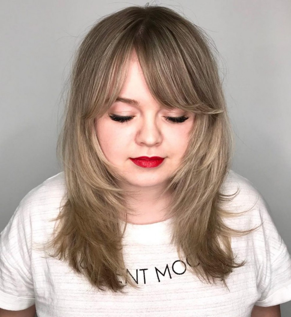 Bangs For Round Face Shapes: 8 Flattering Haircuts Long Bangs For Round Face