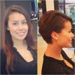 Before And After/ From Long Hair To Pixie Haircut Hair Styles Long Hair To Pixie Cut