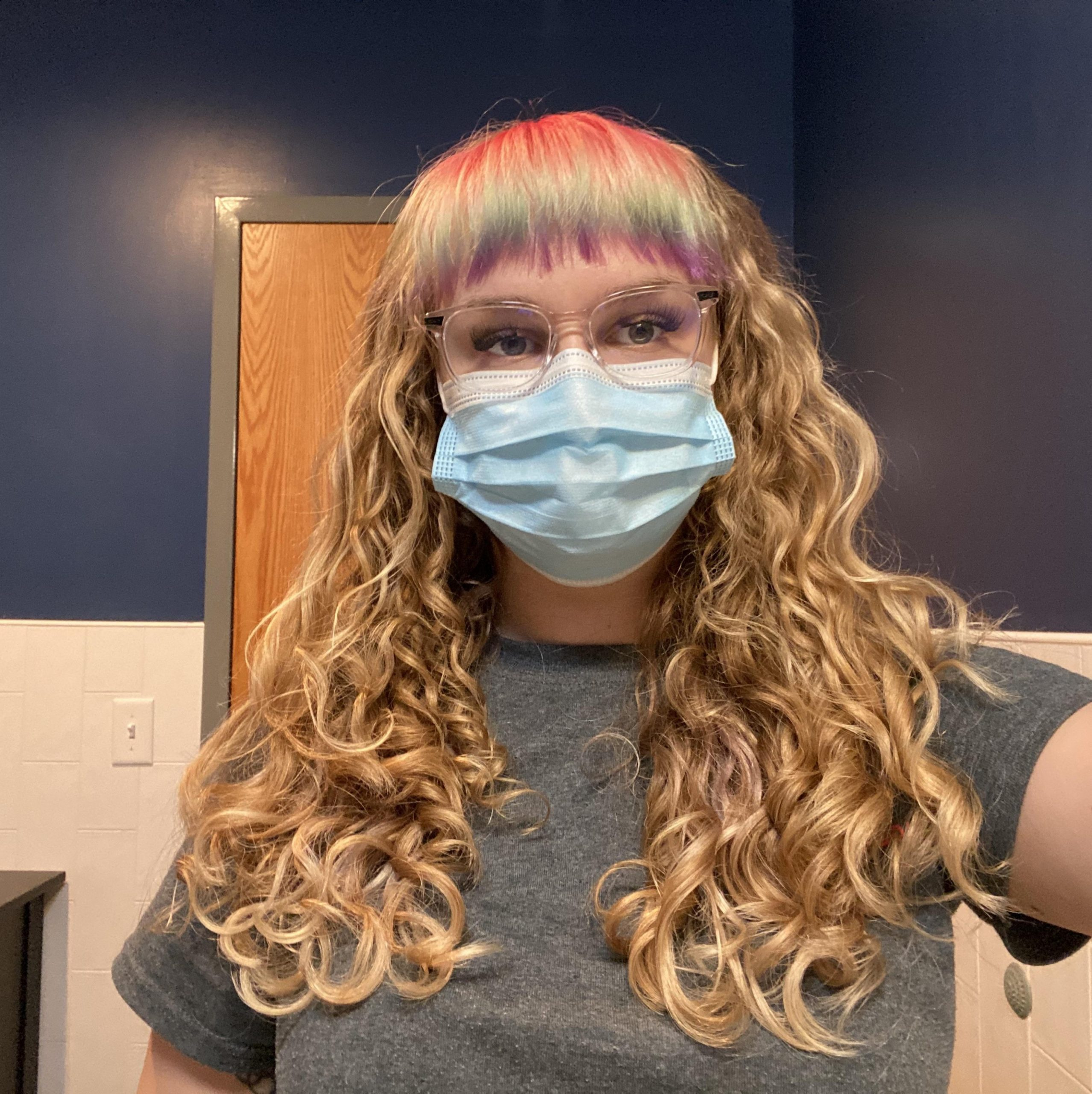 Bleach Can Damage Curls But When You Have Straight Bangs GO Curly Hair And Straight Bangs