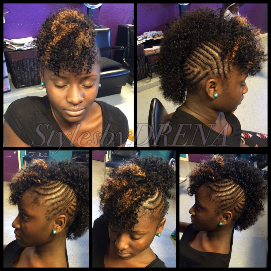Braided Mohawk W/ Jerry Curl Sew In Mohawk Hairstyles, Quick Short Mohawk Hairstyles With Weave