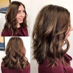 Brown Soft Layered Lob With Waves And Center Part The Latest Medium Length Lob