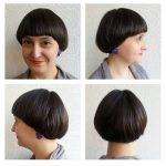 Brunette Retro Bowl Cut With Blunt Edges The Latest Hairstyles Long Bowl Cut Female