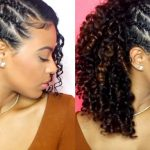 ChellisCurls Wash & Go With 8 Side Braids One Side Braid With Curls Black Hair