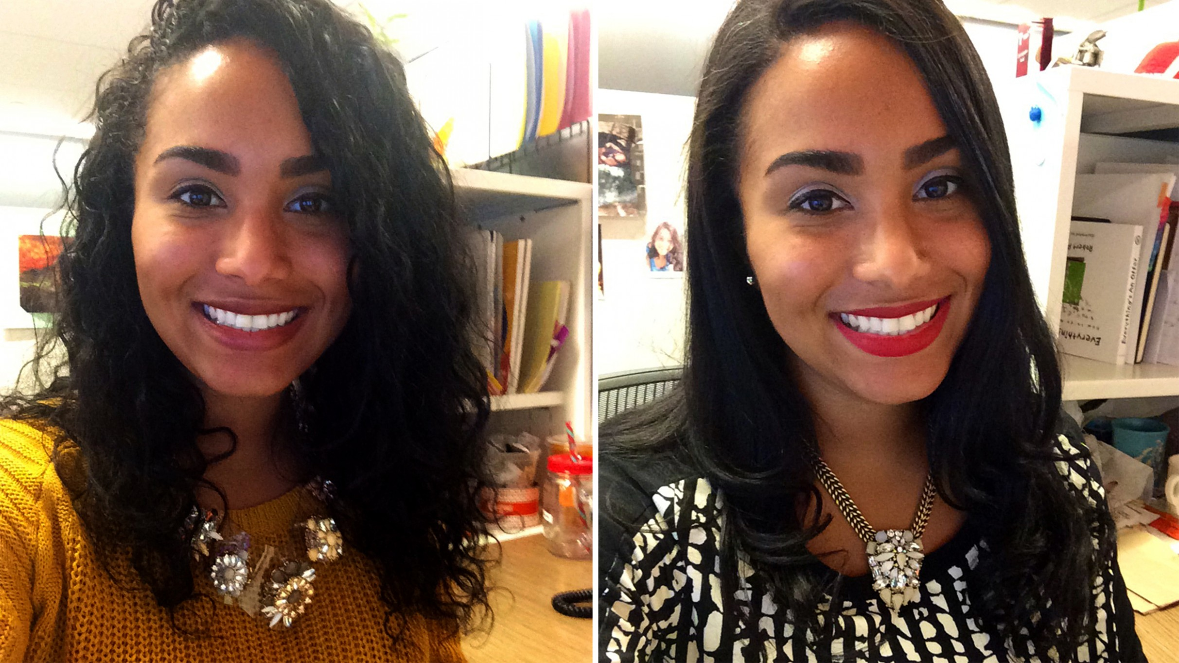 CurlPower: Women Switch From Curly To Straight Hairstyles To Test Interview Hairstyles For Curly Hair