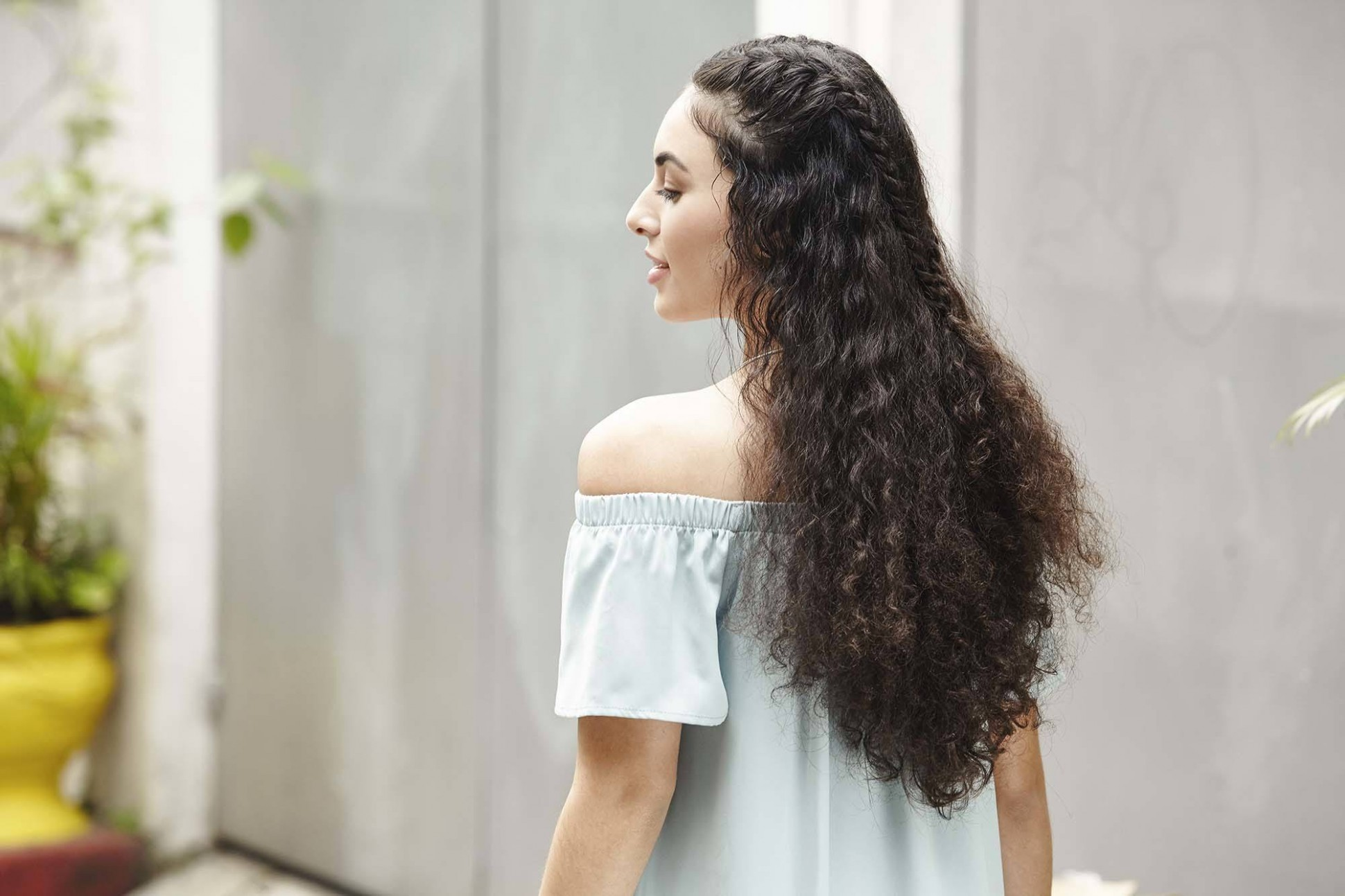 Curly Braided Hairstyle Tutorial: Create The Look In 12 Steps Half Braided Hair With Curls