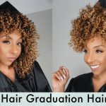 Curly Graduation Cap Hairstyles! Easy Hack! BiancaReneeToday Graduation Hairstyles For Curly Hair